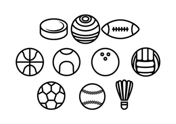 Free Ball Line Icon Vector - vector #436867 gratis