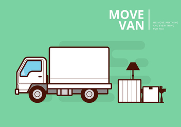 Moving Van or Truck. Transport or Delivery Illustration. - vector gratuit #436877