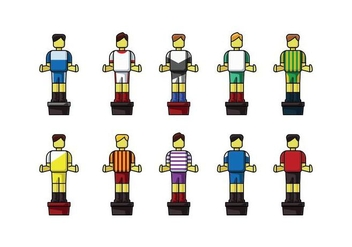 Free Table Football Player Set Vector - бесплатный vector #436887