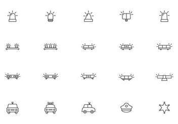 Free Police Lights Vectors - Free vector #437027