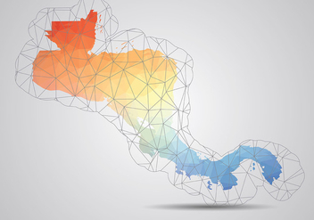 Central America Map Background Vector - бесплатный vector #437107