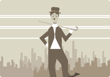 Charlie Chaplin Walking Vector - бесплатный vector #437137