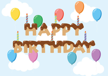 Happy Anniversaire Background Vector - vector gratuit #437147