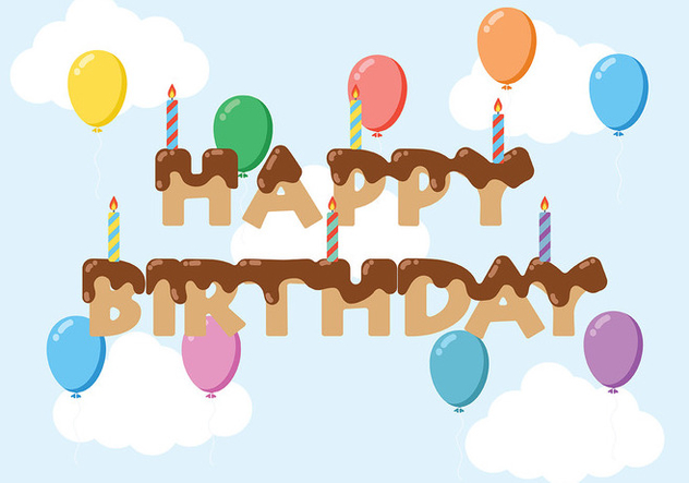 Happy Anniversaire Background Vector - Free vector #437147