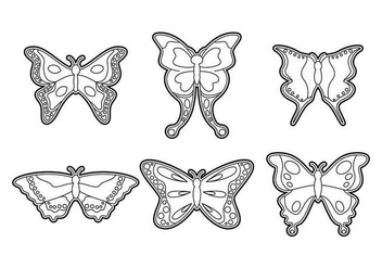 Free Beautiful Mariposa Vector - Free vector #437157