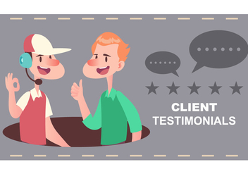 Client Testimonial - Free vector #437167