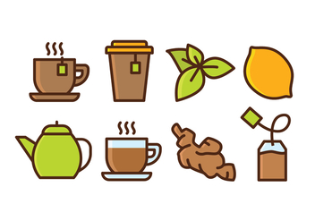 Herbal Tea Icon Set - Free vector #437177
