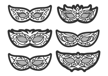 Free Unique Masquerade Ball Vectors - бесплатный vector #437187