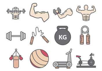 Fitness And Bodybuilder Icon - Kostenloses vector #437207