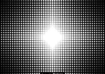 Halftone Squares Background Vector Illustration - vector #437277 gratis