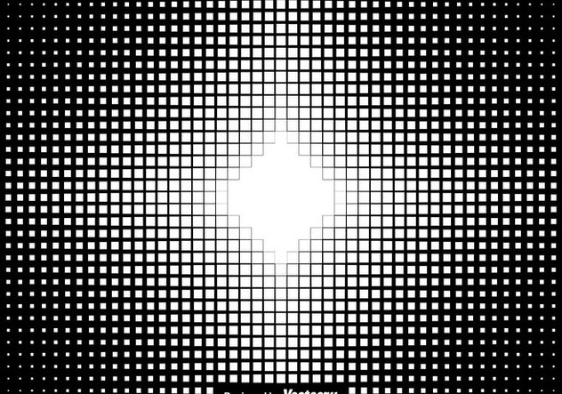 Halftone Squares Background Vector Illustration - Free vector #437277