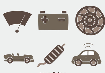 Car Element Vectors - Free vector #437287