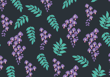 Dark Wisteria Pattern - Free vector #437297