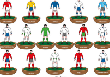 Subbuteo Players icons - Vector - Kostenloses vector #437367