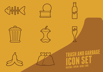Trash And Garbage Icons - vector #437417 gratis