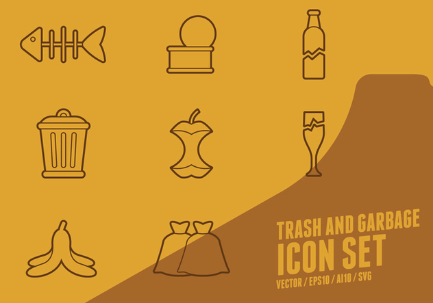 Trash And Garbage Icons - vector gratuit #437417