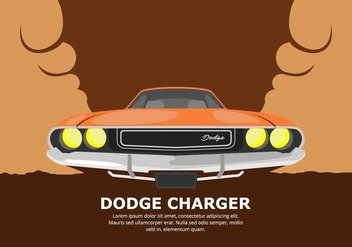 Dodge Car Illustration - Free vector #437427