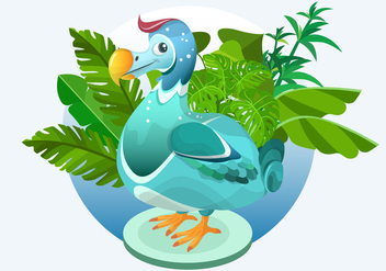 Dodo Bird Vector Illustration - Kostenloses vector #437467