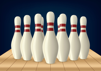 Bowling Lane Pin - vector gratuit #437477