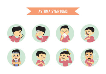 Asthma Symptoms - vector #437487 gratis