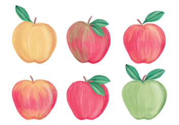 Vector Hand Drawn Apples Collection - Free vector #437517