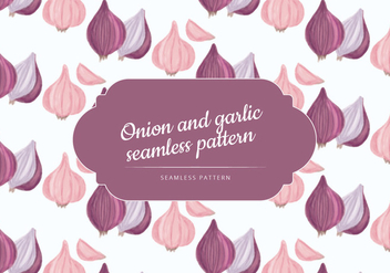 Vector Hand Drawn Garlic and Onion Pattern - vector #437527 gratis