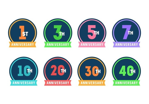 Anniversary Badges - Free vector #437617