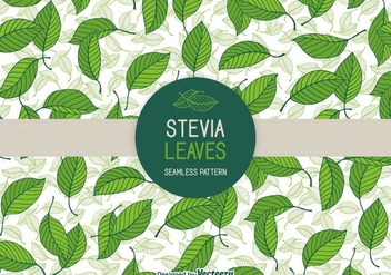 Stevia Leaves Vector Seamless Patterns - бесплатный vector #437627