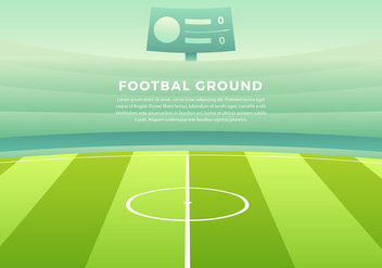 Footbal Ground Cartoon Background Free Vector - vector gratuit #437657