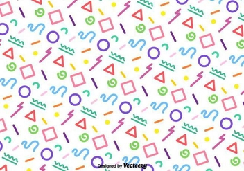 Vector Funky Colorful Geometric Pattern - Kostenloses vector #437667