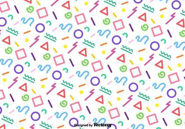 Vector Funky Colorful Geometric Pattern - vector gratuit #437667
