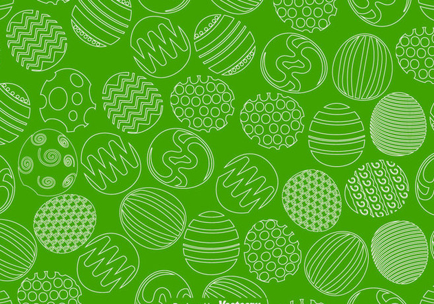 Vector Easter Eggs Seamless Pattern For Spring Season - бесплатный vector #437677