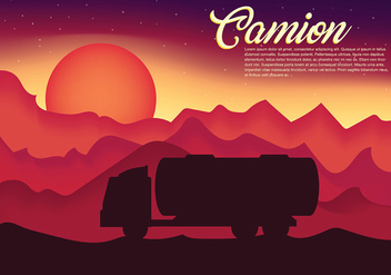 Camion Vector Background - Kostenloses vector #437697