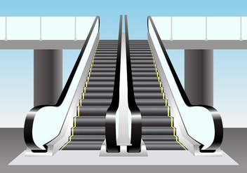 Escalator Vector Scene - бесплатный vector #437727