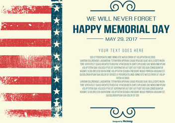 Memorial Day Template - vector #437807 gratis