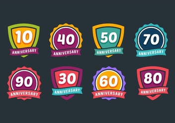 Anniversary Badges - Free vector #437817
