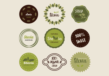 Stevia Badges - Free vector #437847