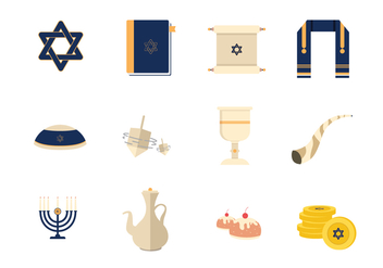 Tefillin And Jewish Vector Elements - Free vector #437887