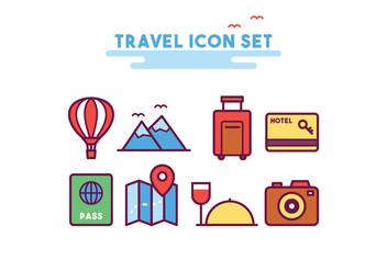 Travel Icon Set - vector gratuit #437917