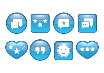 Testimonial button vector pack - vector gratuit #437937