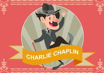 Illustration Of Charlie Chaplin Dancing Vector - Free vector #438017
