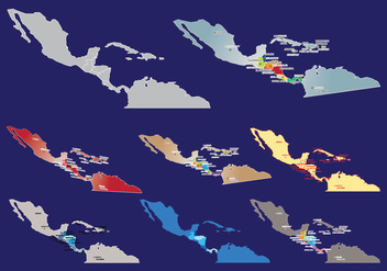 Central America Map Vector - vector #438027 gratis