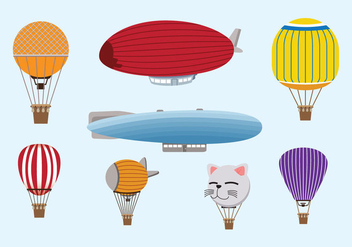 Hot Air Balloon Vector - бесплатный vector #438047