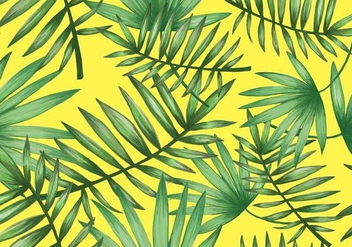 Tropical Palmetto Seamless Pattern Vector - Free vector #438097