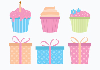 Anniversaire Elements - Free vector #438157