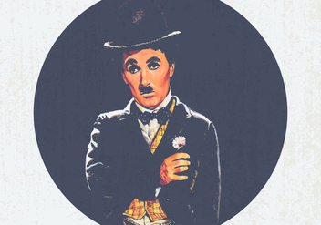 Charlie Chaplin Vintage Illustration - Free vector #438167