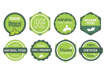 Natural Food Vector Badges - бесплатный vector #438197