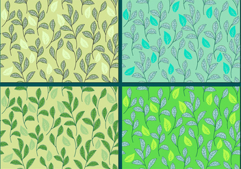 Stevia, Sweetleaf Plant Background or Seamless Patterns - Free vector #438207