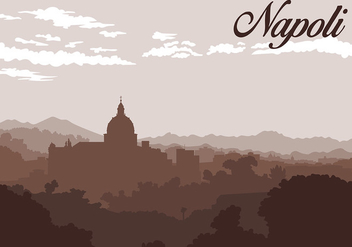 Napoli Silhouette Background Free Vector - бесплатный vector #438287