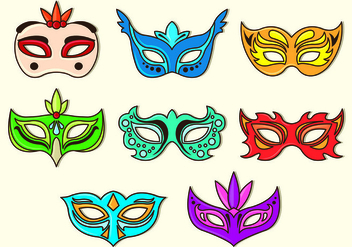 Set Of Masquerade Ball Vectors - Free vector #438347